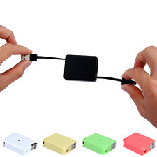 Retractable Charger Micro USB Data Sync Flat Charger Cable V8 Cord For Samsung