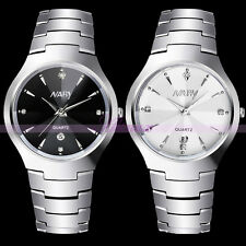 Luxury Lovers Couple Quartz Waterproof Wrist Watches Sport Date Stainless