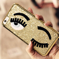 Luxury Shing Plating Frame 3D Eye PC Back Cover For Apple iPhone 5 5S 6 6S Plus