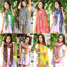 Hot Fashion Women's Long Shawl Stole Scarves Soft Chiffon Scarf  Wraps 13 Colors