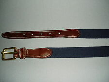 Mens 100% Italian Imported 1.25 Wool Belt 1 1/4 Tapered New No Tags