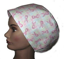 Surgical Scrub - Breast Cancer Awareness PINK RIBBONS ON PASTEL PLAID -  BA-007