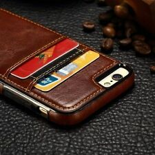 Luxury Ultra Slim Leather Wallet Card Back Case Cover Fr Apple iPhone X 6 7 Plus