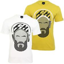 Bench Mens T-Shirt 'Beardyman' Short Sleeved Headphone Graphic Print