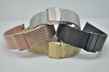 Fully Adjustable Stainless Steel Shark Mesh Bracelet Fits Lugs From 10mm to 24mm
