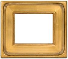"CLASSIC MODERN STYLE PLEIN AIR PAINT PICTURE FRAME WOOD GOLD LEAF 3.5"" WIDE FREE"