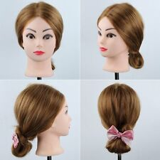 Free Clamp100% 90% Real Human Hair Salon Head Training Mannequin Doll Makeup
