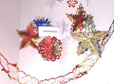 NEW CHRISTMAS XMAS FESTIVE HANGING CEILING FAN DECORATIONS-PAPER FOIL SNOWFLAKES