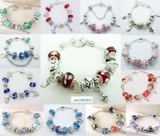 New wholesale fashion jewelry solid 925SILVER charm Bracelet/bangle+Gift Box