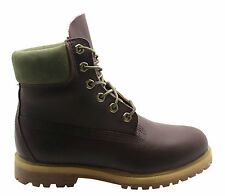 Timberland 6 Inch Prem Womens Waterproof Boots Burgandy Leather Lace 8230A D67
