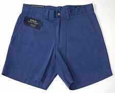 """NWT Polo Ralph Lauren Classic Fit Chino 6"""" Shorts Mens 30 35 36 38 42 Blue NEW"""