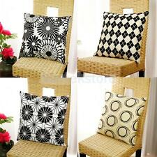 Flocking Throw Pillow Case Cushion Cover Pillow Slip for Chair Sofa Car Decor
