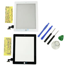 New Touch Screen Glass Digitizer Replacement for iPad 2 2nd with Adhesive+ Tools