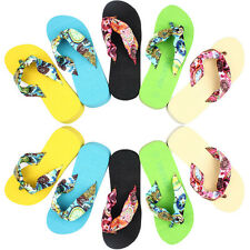 Womens Ladys Wedge Platform Thong Flip Flops Sandals Shoes Beach Casual Slippers