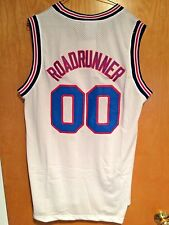 Roadrunner #00 Space Jam Tune Squad Basketball Jersey White S M L XL XXL
