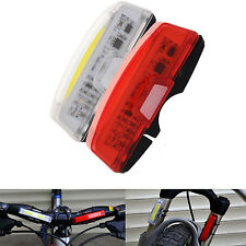 USB Rechargeable COB LED Bike Bicycle Front Rear Tail Light 6-Modes Lamp