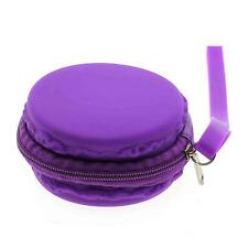 New Lovely Macaron Shape Silicone Candy Coin Zipper Case Purse Wallet Pouch Bag