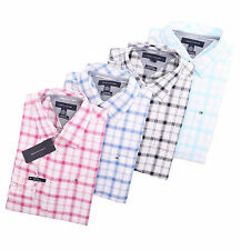 Tommy Hilfiger Men Long Sleeve Custom Fit Plaid Button Down Shirt - $0 Ship