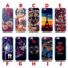 1XPretty Colorful Soft TPU For Cell Phones Glossy Silicone Rubber Gel Case Cover