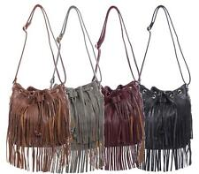 LADIES FAUX LEATHER HOLDALL HOBO TOTE LARGE TASSEL SHOULDER BAG SLOUCH HANDBAG