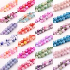 30/40/50Pcs Glass Persia Jade Round Loose Spacer Beads Charms 6/8/10mm
