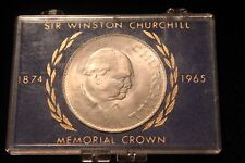 Sir Winston Churchill 1965 Memorial Crown w/Case British Queen Elizabeth NICE