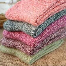 1 Pair Women's Warm Winter Wool Blend Cashmere Thick Soft Solid Casual Socks