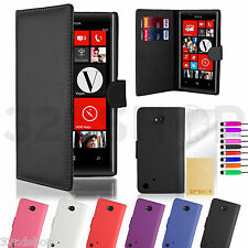 WALLET PU LEATHER CASE COVER FOR Nokia Lumia 720 + FREE SCREEN PROTECTOR