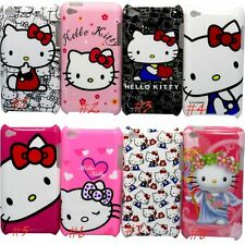 for ipod touch 4TH 4 TH GEN itouch hard case kitten hello kitty red pink white