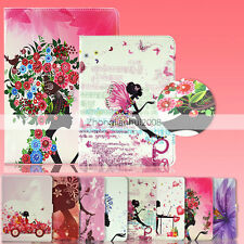 Luxury -LY Painted Crystal PU Leather Stand Case Cover For Samsung Galaxy Tab