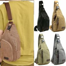 Men's Canvas Military Messenger Shoulder Travel Hiking Fanny Bag Backpack