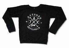 AVENGED SEVENFOLD CROSSING OVER GIRLS JUNIORS BLACK LONG SLEEVE SHIRT NEW A7X