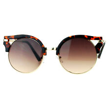 Womens Fashion Sunglasses Wing Topped Round Circle Designer Frame