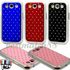 for Samsung galaxy s3 case  bling stone blue burgundy black & pink mirror back