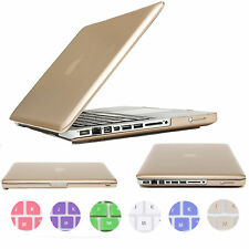 """Glossy Metallic Rubberized PC Case Cover For Apple Air 11"""" 13"""" Pro 15"""" Retina 12"""
