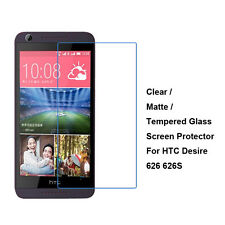 New Tempered Glass / Clear / Matte Film Screen Protector For HTC Desire 626 626S