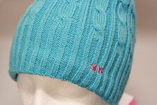 SOS Golf Cable Knit Beanie Hat Cotton Lined Navy Blue, Turquoise, Grey New Gift