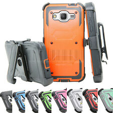 For Samsung Galaxy Grand Prime G530 Hybrid Rugged Holster Case Cover Stand Clip