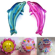 Kids Child's Gift Happy Birthday Dolphin Helium foil Balloon Party Decoration