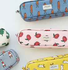 Jam Jam Long Pencil Pouch Pen Case Holder Storage Organizer Cute Kawaii Bag Box
