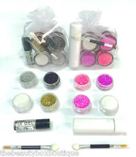 Glitter eyes And Lips sets - 8 Glitter Pots Fixing Gel Lip adhesive Brushes Gift