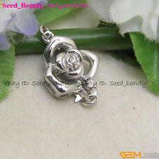 Fashion White Gold Plated Crystal Inlayed Flower Clasp gp0399