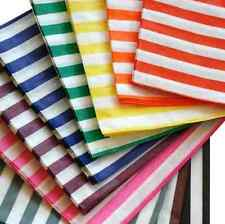 80 x CANDY STRIPE PAPER SWEET FAVOUR BUFFET BAGS -12.7x17.8cm