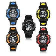 Mens luxury Waterproof Acrylic Digital LED Quartz Alarm Date Sports Wrist Watch