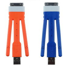 Flexible 9cm USB Charger Cable Data Sync Stand Holder for iPhone 4 4S 3Gs iPod