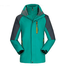 New Mens Windproof Breathable Thermal 3in1 Coat Outdoor Clothing Hiking Jacket
