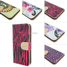 For Samsung Galaxy Prevail LTE Core Prime G360 Shiny PU Leather Flip Wallet Case