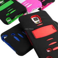 For Samsung Galaxy Note Edge Rugged Hybrid Armor Skin Protective Case Stand