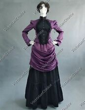 Victorian Titanic Bustle Dress Gown Theater Vampire Witch Halloween Costume 139