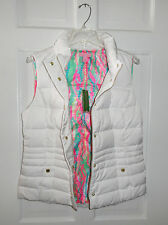 NWT LILLY PULITZER RESORT WHITE ISABELLE PUFFER VEST DOWN M L XL $198